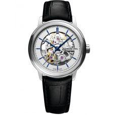 Raymond Weil Mens Maestro Skeleton Leather Strap Watch 2215-STC-65001