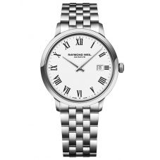 Raymond Weil Mens Toccata Classic White Roman Numeral Dial Bracelet Watch 5485-ST-00300