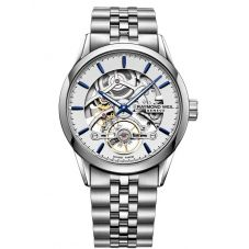 Raymond Weil Mens Freelancer Calibre RW1212 Automatic Skeleton Dial Bracelet Watch 2785-ST-65001