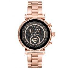 Michael Kors Ladies Access Sofie Gen 4 Rose Gold Plated Crystal Bezel Smartwatch MKT5063