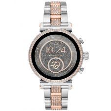 Michael Kors Ladies Access Sofie Gen 4 Two Tone Crystal Bezel Smartwatch MKT5064