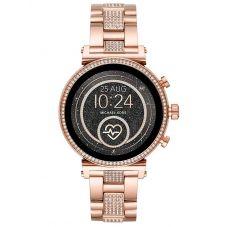 Michael Kors Ladies Access Sofie Gen 4 Rose Gold Plated Crystal Set Bracelet Smartwatch MKT5066