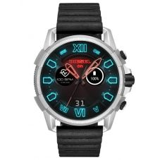 Diesel Mens Full Guard 2.5 Touchscreen Leather Strap Smartwatch DZT2008