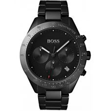 BOSS Mens Talent Chronograph Black Ceramic Bracelet Watch 1513581