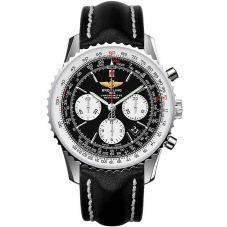 Breitling Mens Navitimer 01 Chronograph Black Leather Strap Watch AB012012/BB01 435X