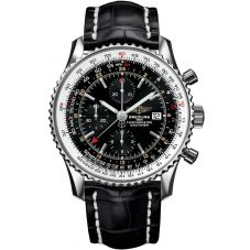 Breitling Mens Navitimer 1 Chronograph GMT 46 Leather Strap Watch A2432212-B726 760P
