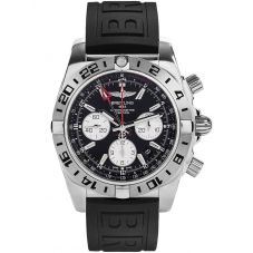 Breitling Mens Chronomat 44 GMT Rubber Strap Watch AB0420B9-BB56 153S