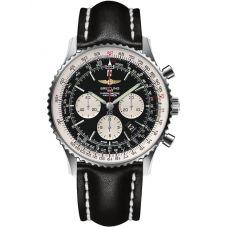 Breitling Mens Navitimer 1 B01 Chronograph 46 Leather Strap Watch AB012721-BD09 441X