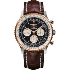 Breitling Mens Navitimer 1 B01 Chronograph 46 Leather Strap Watch UB012721/BE18 754P