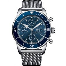 Breitling Mens Superocean Heritage II Chronograph 44 Mesh Strap Watch A13313161C1A1