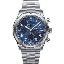 Breitling Mens Navitimer 8 Chronograph 43 Blue Steel Bracelet Watch A13314101C1A1