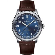 Breitling Mens Navitimer 8 Automatic Brown Leather Strap Watch A17314101C1X1