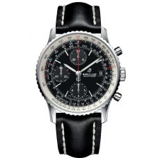 Breitling Mens Navitimer 1 Chronograph 41 Black Leather Strap Watch A13324121B1X1