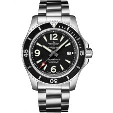 Breitling Mens Superocean Automatic 44 Black Bracelet Watch A17367D71B1A1