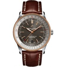 Breitling Mens Navitimer 1 Automatic 41 Brown Leather Strap Watch U17326211M1P1