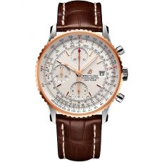 Breitling Mens Navitimer 1 Chronograph 41 Brown Leather Strap Watch U13324211G1P1