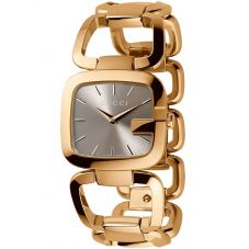 Gucci Ladies G-Gucci Gold Plated Bracelet Watch YA125511