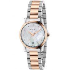 Gucci Ladies G-Timeless Two Colour Diamond Bracelet Watch YA126544