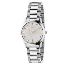 Gucci Ladies G-Timeless Small Stainless Steel Bracelet Watch YA126572