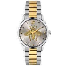 Gucci Ladies G-Timeless Two Tone Gold Bee Motif Dial Bracelet Watch YA1264131