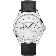 Montblanc Mens Heritage Chronometrie Twincounter Date Leather Strap Watch 114872