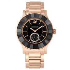 Swarovski Octea Classica Gold Tone Black Dial Bracelet Watch 5043192