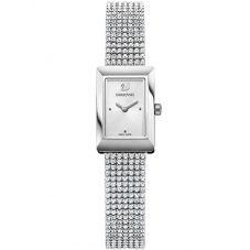 Swarovski Memories Silver Tone Fabric Watch 5209187