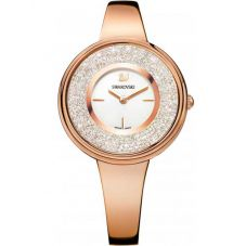 Swarovski Crystalline Pure Rose Gold Tone White Bracelet Watch 5269250