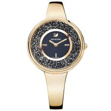 Swarovski Crystalline Pure Rose Gold Tone Black Bracelet Watch 5295334