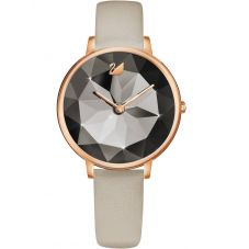 Swarovski Crystal Lake Rose Gold Tone Taupe Watch 5415996