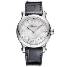 Chopard Ladies Happy Sport Diamond Strap Watch 278559-3001