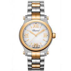 Chopard Ladies Happy Sport Rose Diamond Bracelet Watch 278590-6002