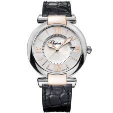 Chopard Ladies Imperiale Mother Of Pearl Leather Strap Watch 388532-6001
