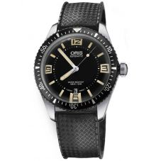 Oris Mens Divers Sixty-Five Black Rubber Strap Watch 733 7707 4064-07 4 20 18