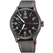 Oris Mens Big Crown ProPilot GMT Rega Limited Edition Strap Watch 748 7710 4284-SET TS