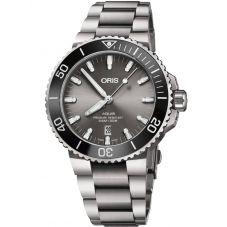 Oris Mens Aquis Date Automatic Titanium Bracelet Watch 733 7730 7153-07 MB