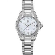 TAG Heuer Ladies Aquaracer Quartz Diamond Set Bracelet Watch WBD1414.BA0741