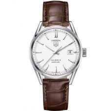 TAG Heuer Mens Carrera Calibre 5 Brown Leather Strap Watch WAR211B.FC6181