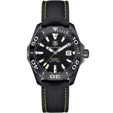 TAG Heuer Mens Aquaracer Calibre 5 Fabric Strap Watch WAY218A.FC6362