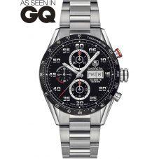 TAG Heuer Mens Carrera Calibre 16 Black Chronograph Bracelet Watch CV2A1R.BA0799