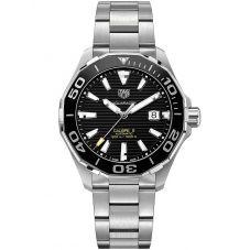 TAG Heuer Mens Aquaracer Calibre 5 Ceramic Black Dial Bracelet Watch WAY201A.BA0927