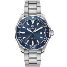 TAG Heuer Mens Aquaracer Quartz Blue Bracelet Watch WAY101C.BA0746