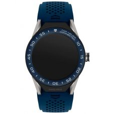 TAG Heuer Mens Connected Modular 45 Blue Rubber Strap Smartwatch SBF8A8012.11FT6077