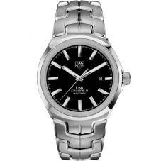TAG Heuer Mens Link Calibre 5 Black Bracelet Watch WBC2110.BA0603
