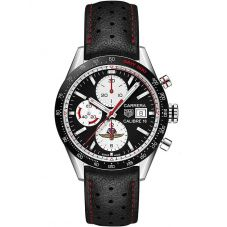 TAG Heuer Mens Carrera Calibre 16 Limited Edition 2019 Indy 500 Black Leather Strap Watch CV201AS.FC6429
