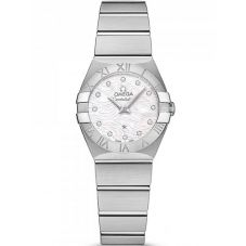 Omega Ladies Constellation Quartz Diamond Bracelet Watch 123.10.24.60.55.004