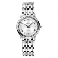 Omega Ladies De Ville Prestige Quartz Silver Bracelet Watch 424.10.27.60.04.001