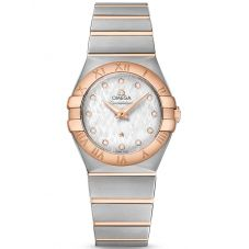 Omega Ladies Constellation Quartz Bracelet Watch 123.20.27.60.52.002