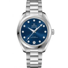 Omega Ladies Seamaster Aqua Terra Blue Bracelet Watch 220.10.34.20.03.001