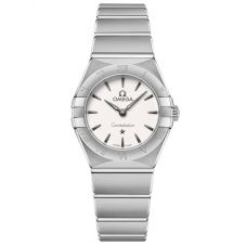 Omega Ladies Constellation Manhattan White Dial Bracelet Watch 131.10.25.60.02.001